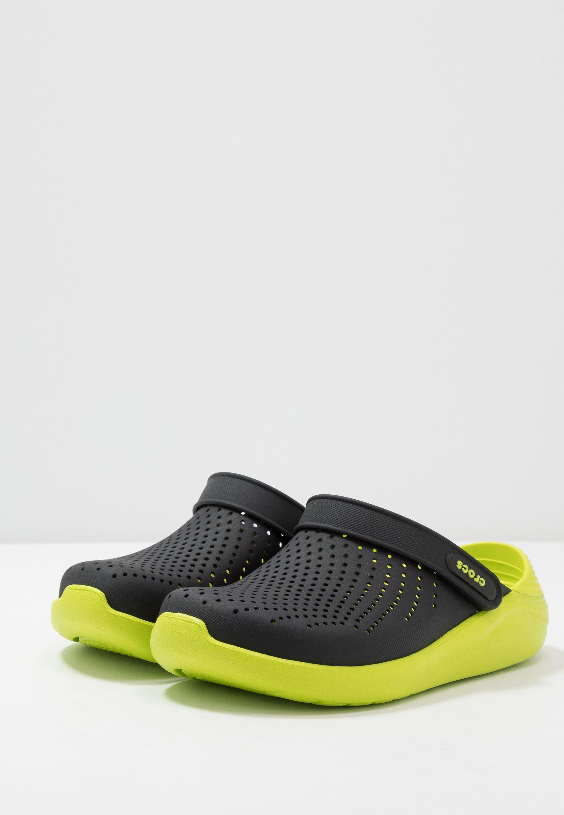 Crocs LITERIDE Clogs black/lime punch/grün