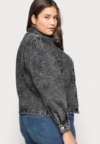 Glamorous Curve - PUFF LONG SLEEVES - Button-down blouse - black - 3