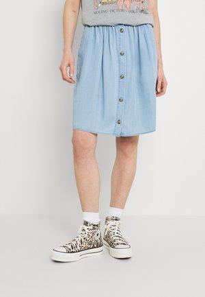 VIMEJA GUDNY SKIRT - A-line skirt - light blue denim