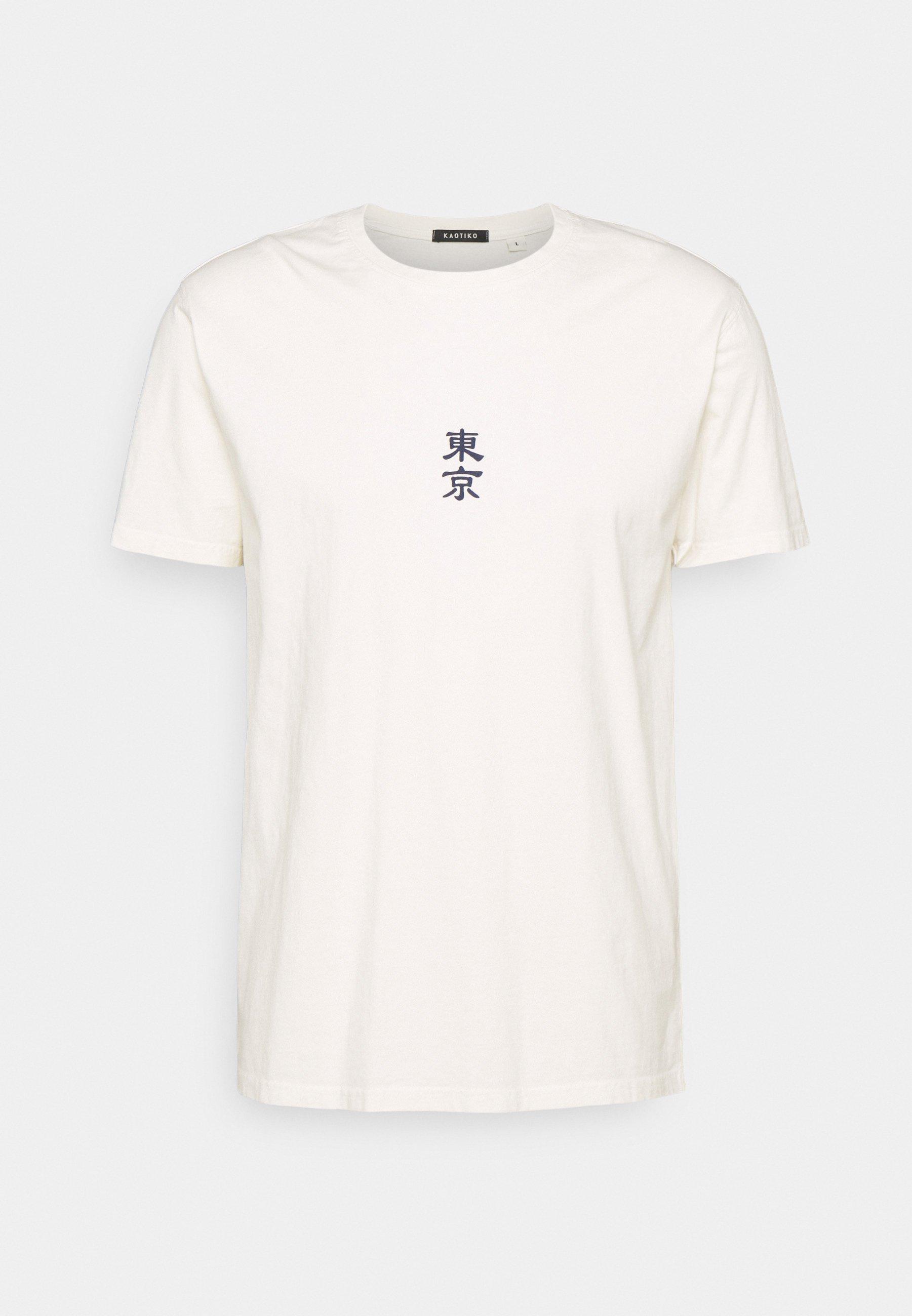 Men WASHED JAPANES FLOWER IVORY - Print T-shirt