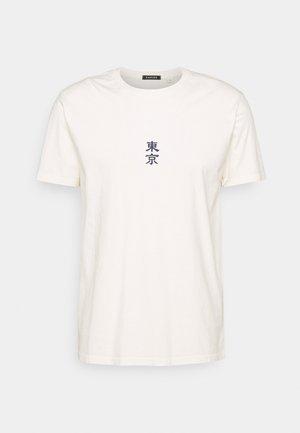WASHED JAPANES FLOWER IVORY - T-shirt med print - ivory
