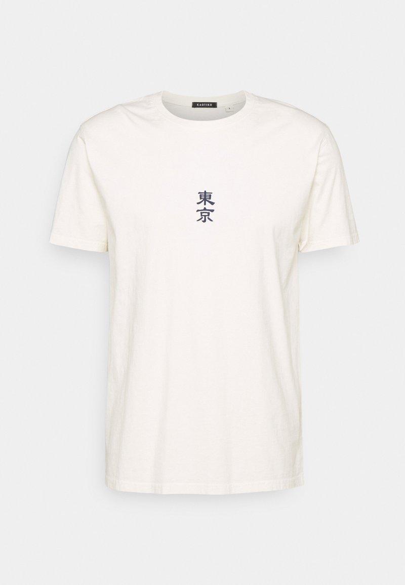 Kaotiko - WASHED JAPANES FLOWER IVORY - Print T-shirt - ivory