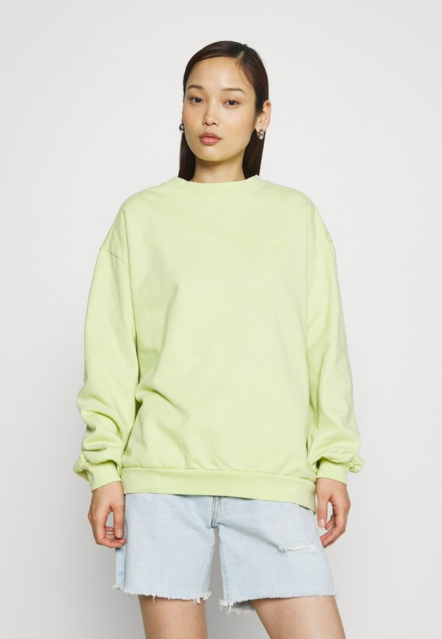 MELROSE SLOUCHY CREW - Mikina - shadow lime