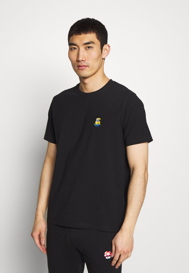 SMILING MINION SMALL - T-shirt imprimé - black