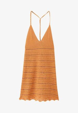 MIT TRÄGERN - Pletené šaty - orange