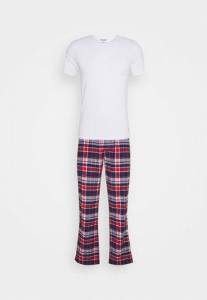 LAUNDRY TEE & PANT - Pyjama set - optic/navy/red