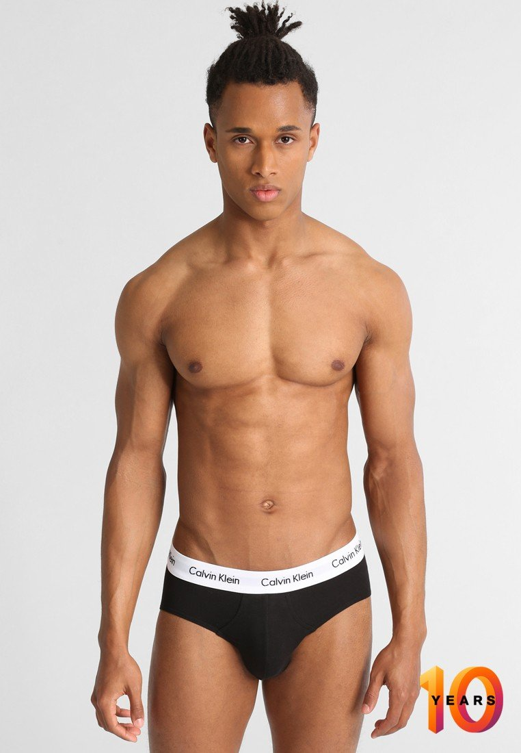 Calvin Klein Underwear - BRIEF 3 PACK - Braguitas - black