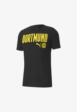 BVB FTBLCORE WORDING - Club wear - black-cyber yellow
