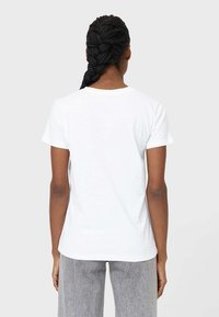 Stradivarius - Print T-shirt - white - 2