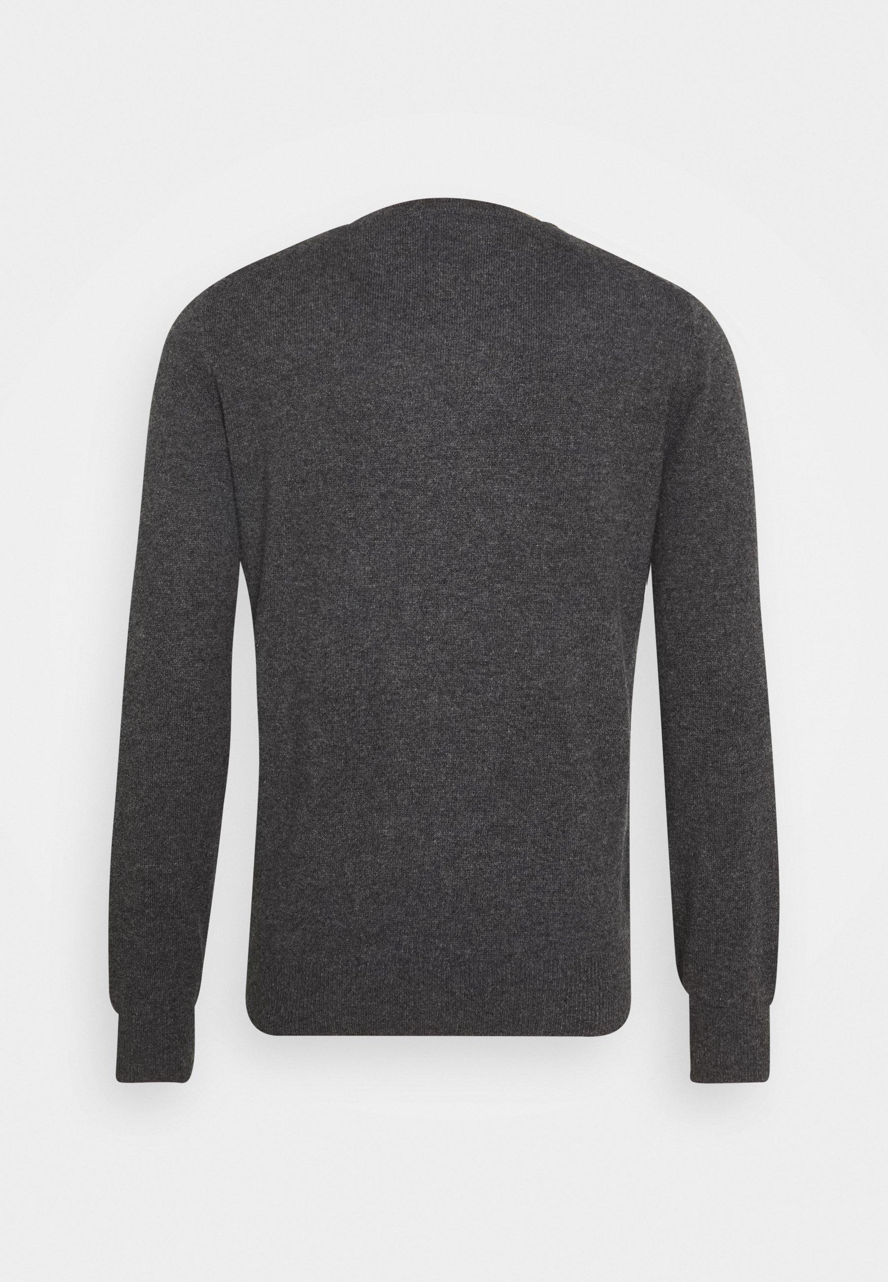 pure cashmere MEN CREW NECK - Pullover - graphite