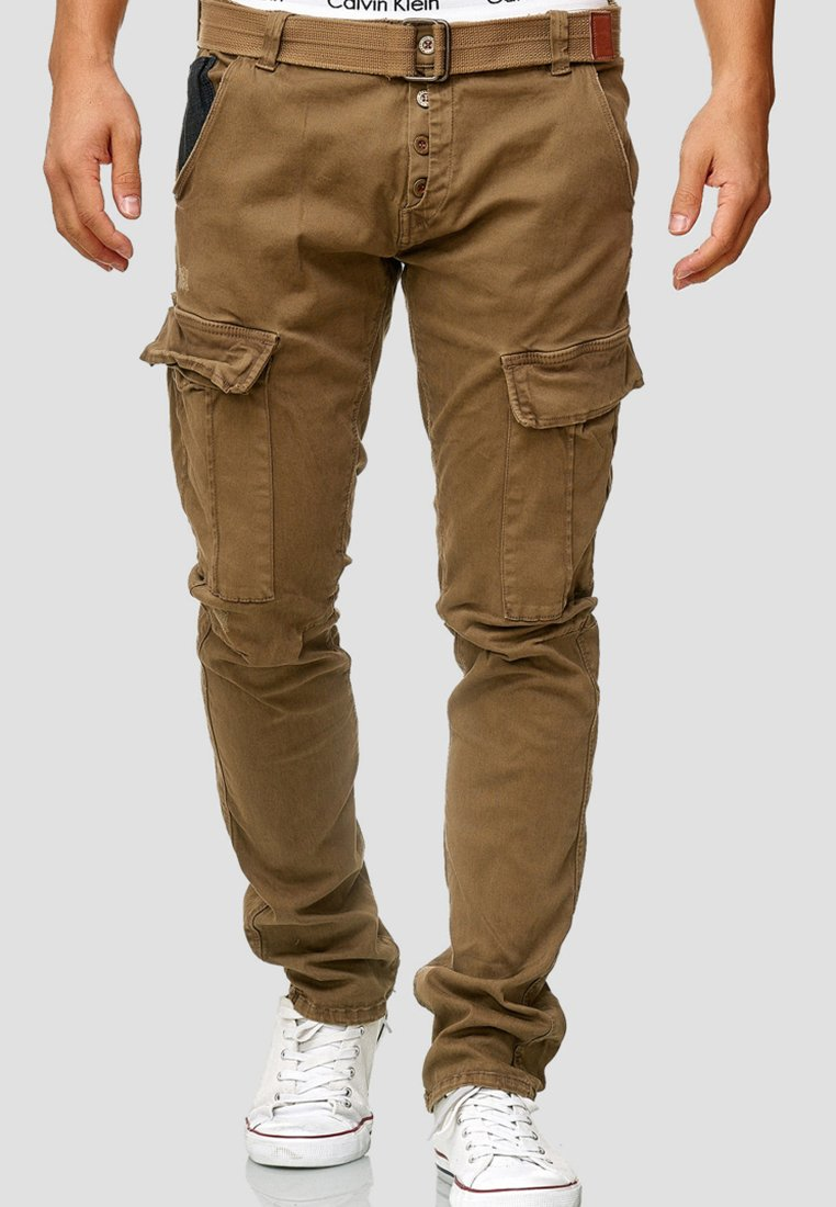 INDICODE JEANS - RAYANE - Cargo trousers - brown