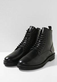 Walk London - JAZZ LACE UP BOOT - Šněrovací kotníkové boty - black - 2