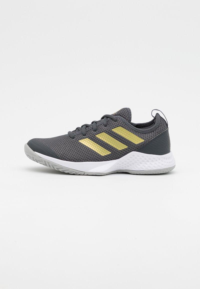 adidas Performance - COURT CONTROL  - Allcourt tennissko - grey six/gold metallic/footwear white