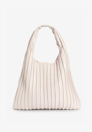 PLEATED HOBO - Handbag - off-white