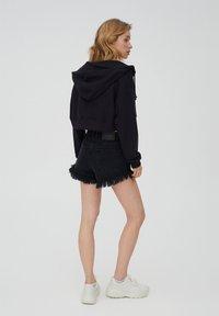PULL&BEAR - Zip-up hoodie - black - 1