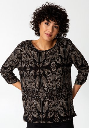 ALINA - Long sleeved top - black