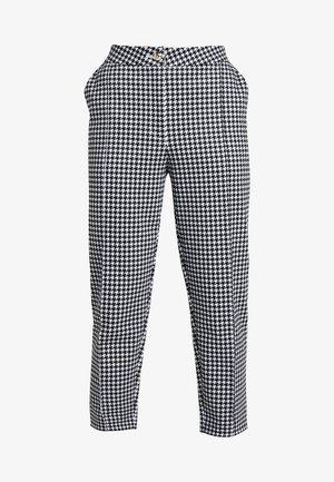 TAILORING DOGTOOTH CIGARETTE - Pantalones - black