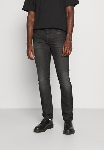 5 POCKETS PANT - Slim fit -farkut - black denim