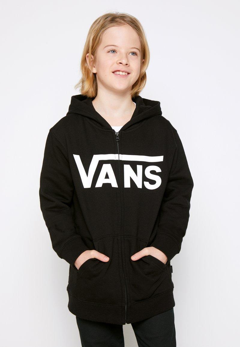 Vans - BY VANS CLASSIC ZIP HOODIE II BOYS - Sudadera con cremallera - black/white