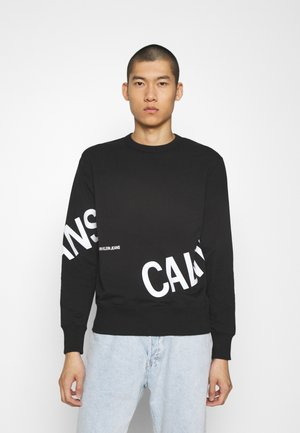 STRETCH LOGO CREW NECK - Sweatshirt - ck black