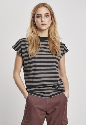 Y/D STRIPE - T-shirt basic - asphalt/black