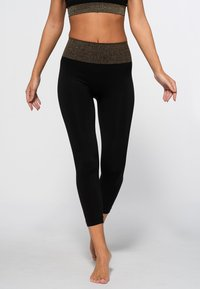 Heart and Soul - HAMPTONS SEAMLESS  - Legging - black/shining gold - 0