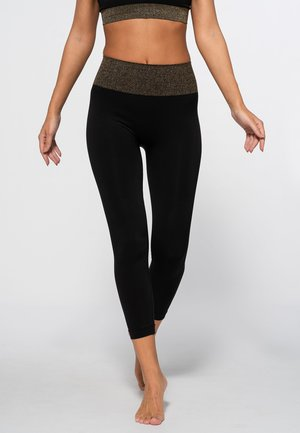 HAMPTONS SEAMLESS  - Collants - black/shining gold