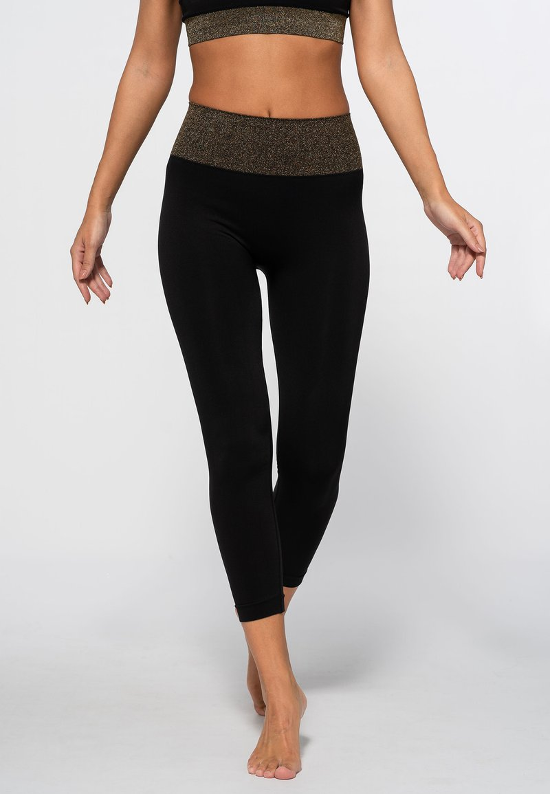 Heart and Soul - HAMPTONS SEAMLESS  - Legging - black/shining gold