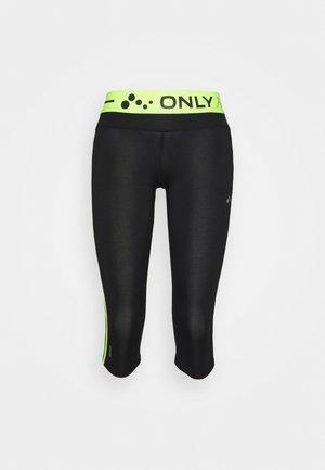ONPJACEI 3/4 TIGHTS PETITE - Leggings - black/safety yellow