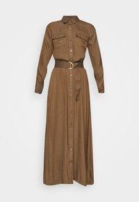 Banana Republic - SHIRTDRESS SOLID - Maxi dress - heritage olive - 4