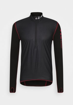WINDSTOPPER® TRANSTEX® LIGHT - Sports shirt - black/red