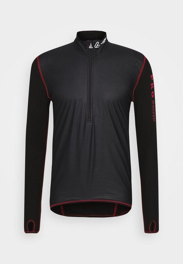 WINDSTOPPER® TRANSTEX® LIGHT - Sports shirt - black/red