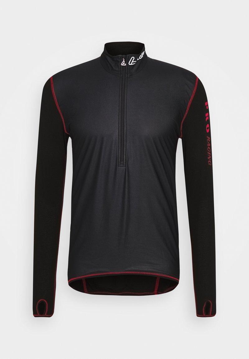 LÖFFLER - WINDSTOPPER® TRANSTEX® LIGHT - Funktionsshirt - black/red