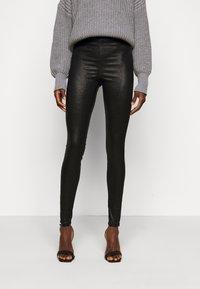 PIECES Tall - PCSKIN PARO GLITTER - Leggings - Trousers - black - 0