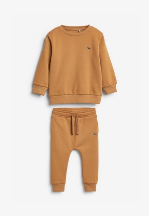 SET - Tracksuit bottoms - beige