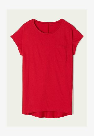 Jersey dress - poison red