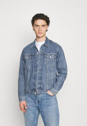 WELLTHREAD TRUCKER - Denim jacket - med indigo