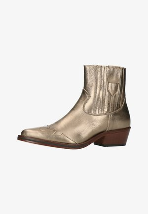 Cowboy/biker ankle boot - gold