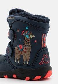 Kappa - LAMA TEX UNISEX - Winter boots - navy/coral - 5