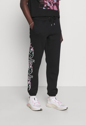 BETTER DAYS LEG PRINT JOGGER UNISEX - Teplákové kalhoty - black