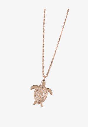 MIT ANHÄNGER SCHILDKRÖTE  - Necklace - rosegold