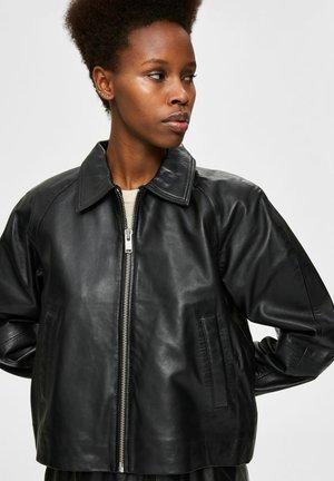 LAMM - Leather jacket - black