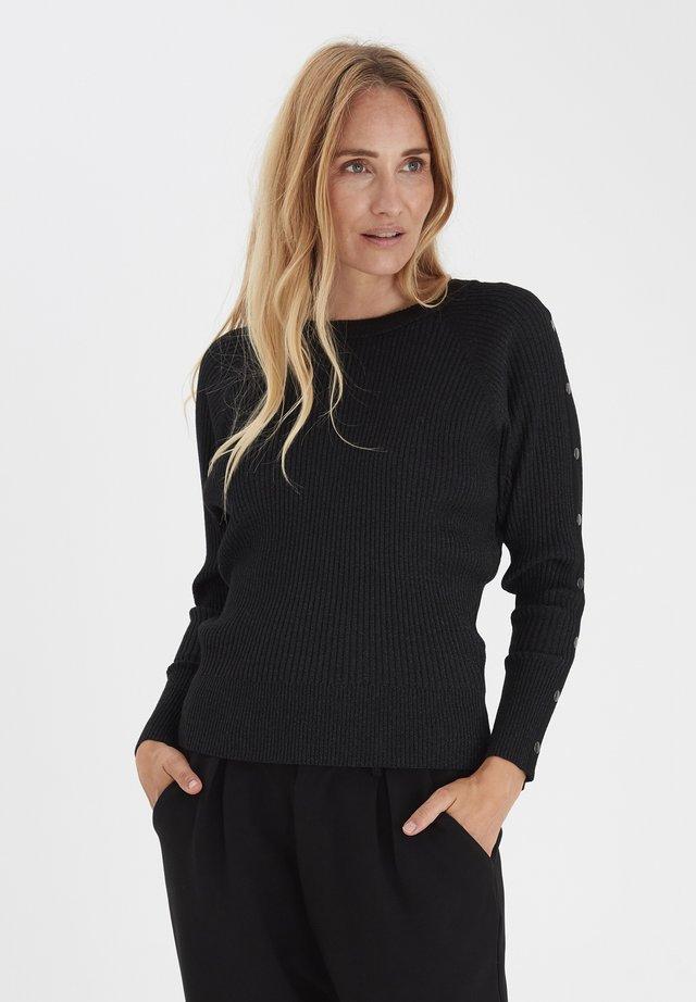 PZSARA  - Pullover - black glitter