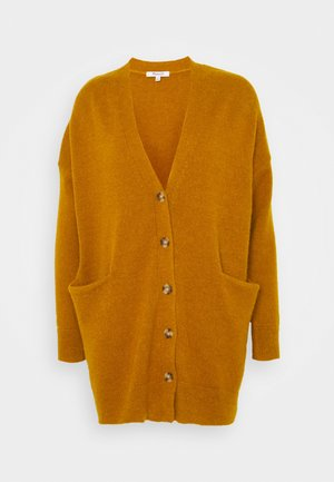 RYAN LONGER BUTTON CARDIGAN - Cardigan - egyptian gold