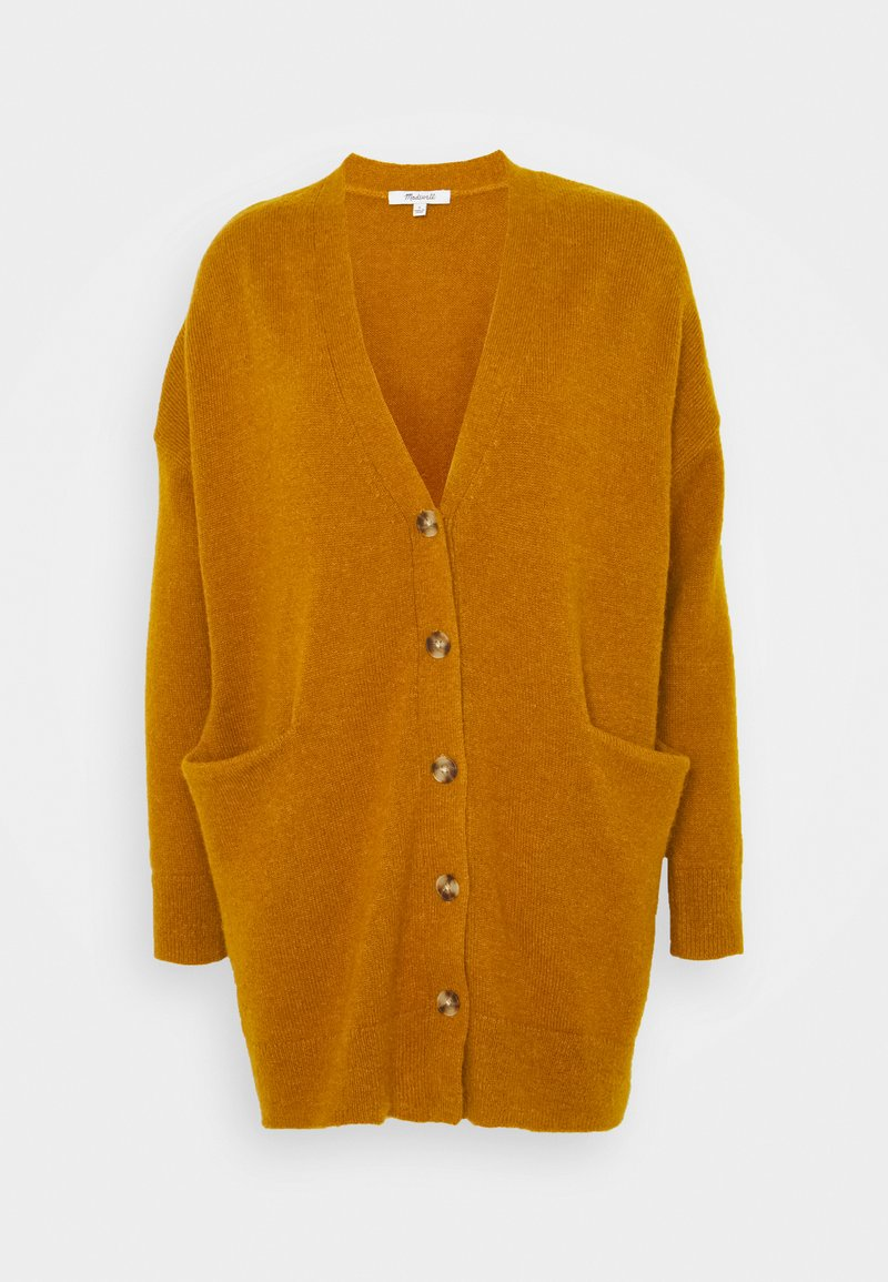 Madewell - RYAN LONGER BUTTON CARDIGAN - Cardigan - egyptian gold