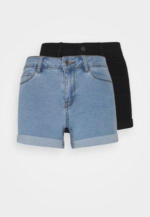VMHOT SEVEN 2 PACK - Shorts vaqueros - black/light blue