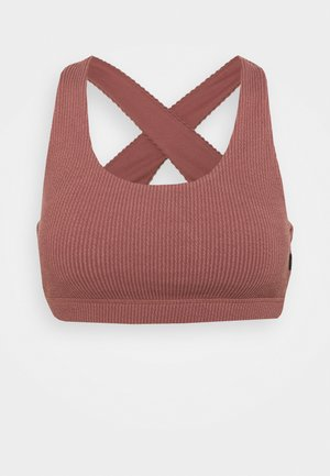 WORKOUT CUT OUT CROP - Light support sports bra - dusty rose