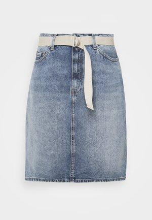 A LINE SKIRT - Mini skirt - denim