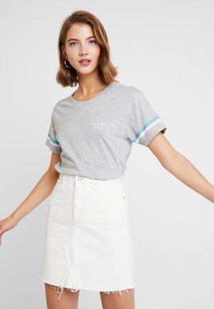 LOGO TEE - Print T-shirt - gray