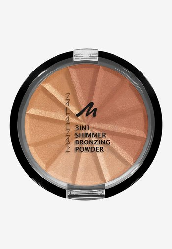 3IN1 SHIMMER BRONZING POWDER - Powder - 002 bronze shimmer